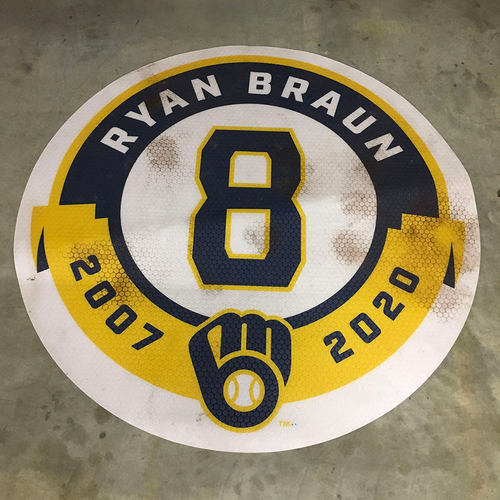 Photo of Game-Used Home Side On Deck Circle - 09/26/21 NYM@MIL - Ryan Braun Retirement Ceremony & Brewers Clinch NL Central Division Title (LOCAL PICKUP ONLY)