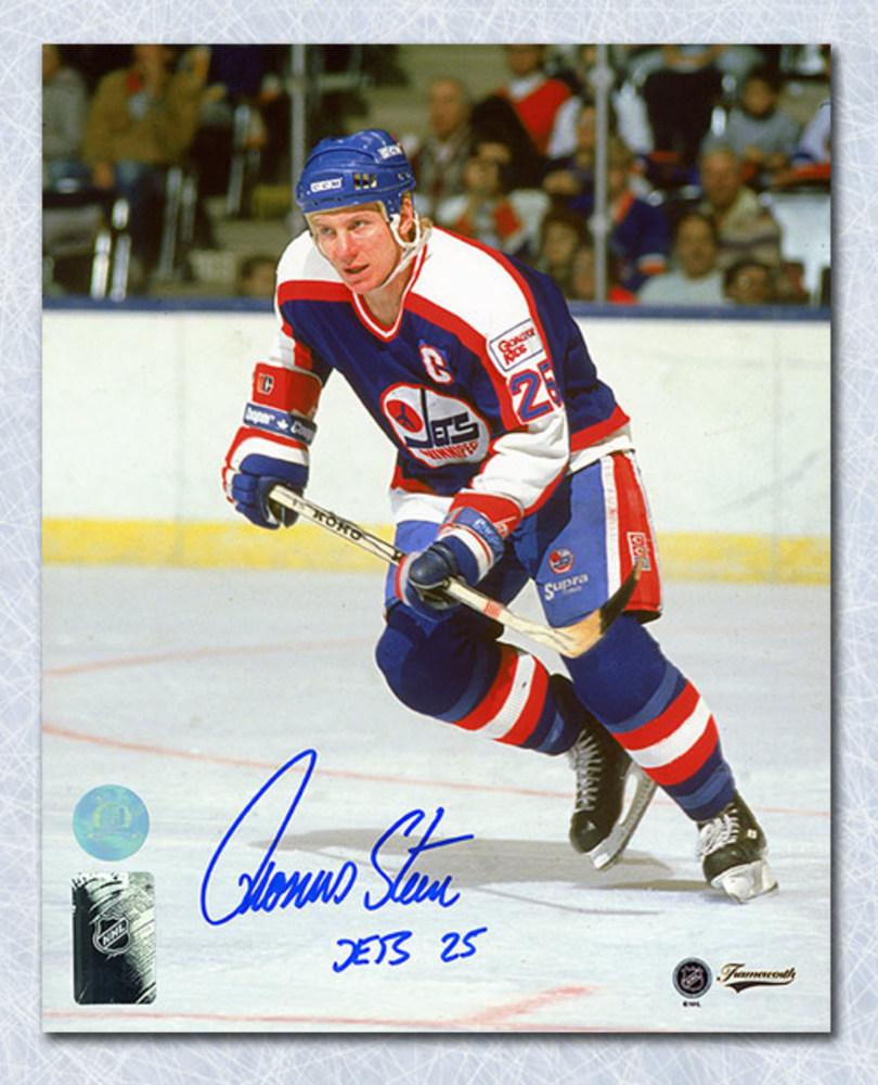 Thomas Steen Winnipeg Jets Autographed 8x10 Photo