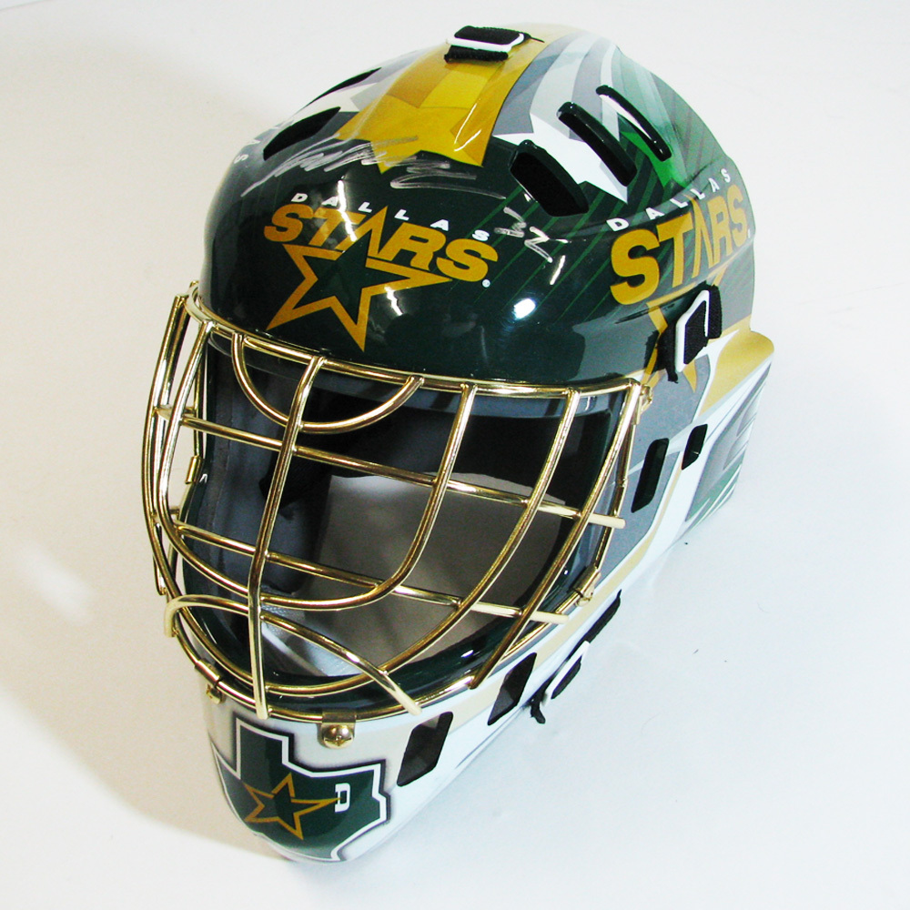 KARI LEHTENON Signed Dallas Stars Full Size Goalie Mask