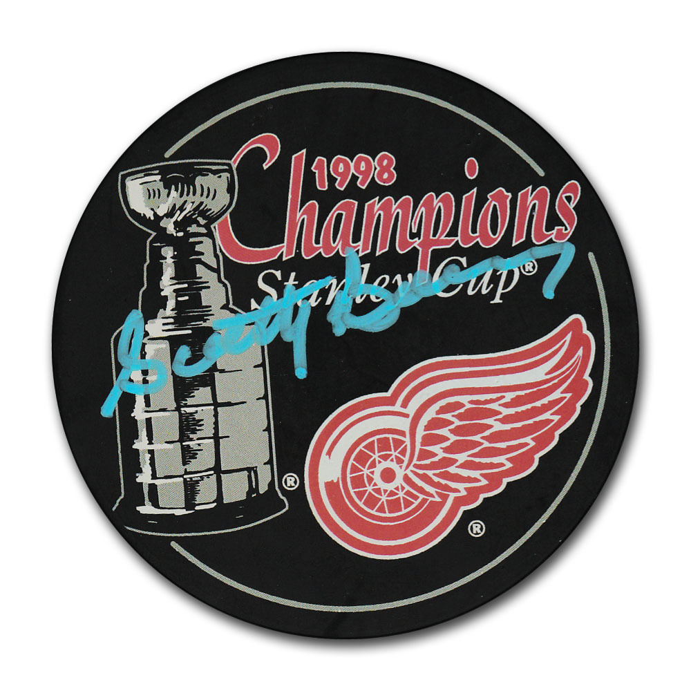 Scotty Bowman Autographed Detroit Red Wings 1998 Stanley Cup Champions Puck