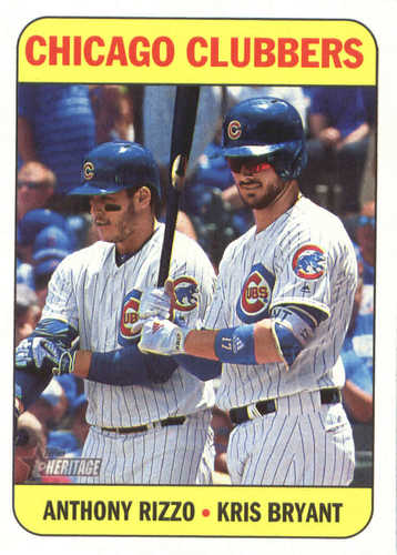 Photo of 2018 Topps Heritage #106 Anthony Rizzo/Kris Bryant