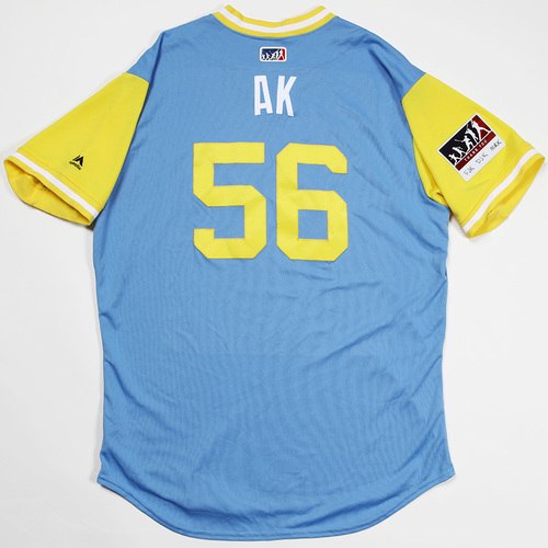"Photo of Adam ""AK"" Kolarek Tampa Bay Rays Game-Used 2018 Players' Weekend Jersey"