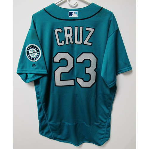 Photo of Seattle Mariners Nelson Cruz Alternate Teal Game Used Jersey - 6/15/2018 vs. BOS
