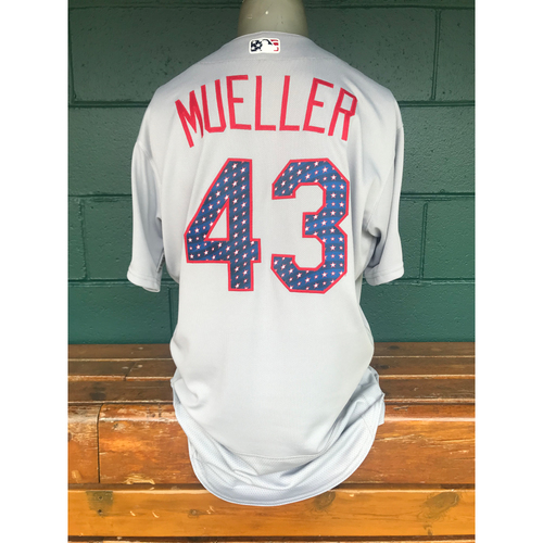 Photo of Cardinals Authentics: Game Worn Bill Mueller 4th of July Jersey