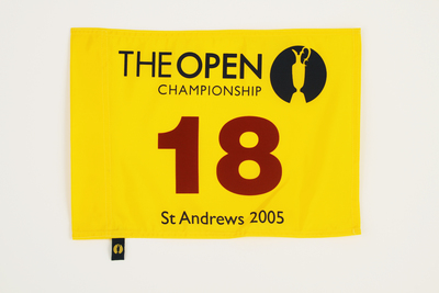 Photo of The 134th Open Official Souvenir Pin Flag - St Andrews 2005