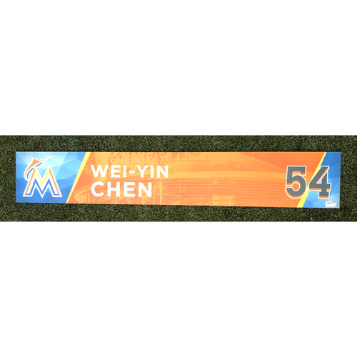 Photo of Game-Used Locker Tag: Wei-Yin Chen