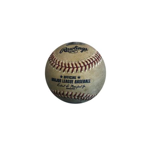 Photo of Game-used Baseball: 6/12/2016 Niese vs. Peralta - Top 6th, Single