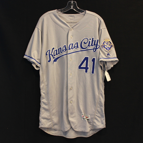 Photo of Game-Used Jersey: Danny Duffy (Size 46 - 9/8/18 - KC @ MIN)