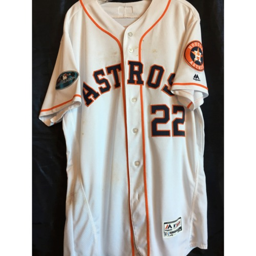 Photo of Josh Reddick 2018 Game-Used ALDS/ALCS Jersey
