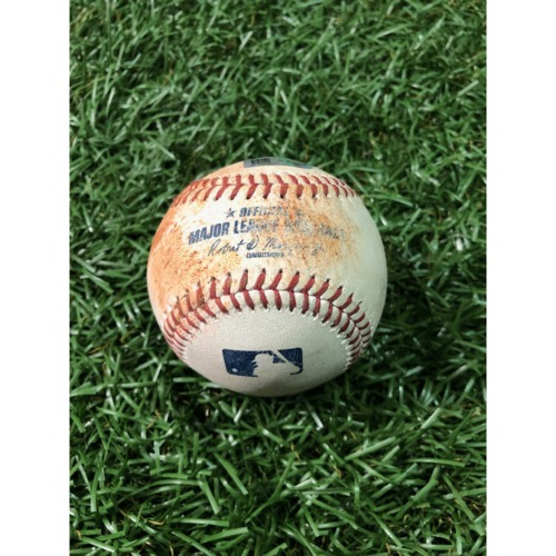 Photo of Game-Used Baseball: Guillermo Heredia sac bunt, Tommy Pham RBI single, Ji-Man Choi single and Brandon Lowe ball off Chris Devenski - March 30, 2019 v HOU