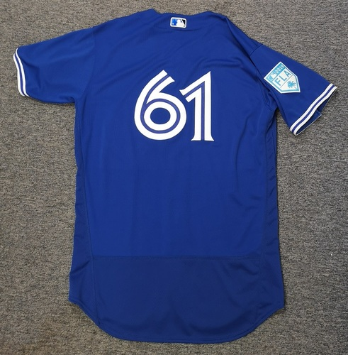 Photo of Authenticated Team Issued 2019 Spring Training Jersey - #61 Alex Andreopoulos. Size 46