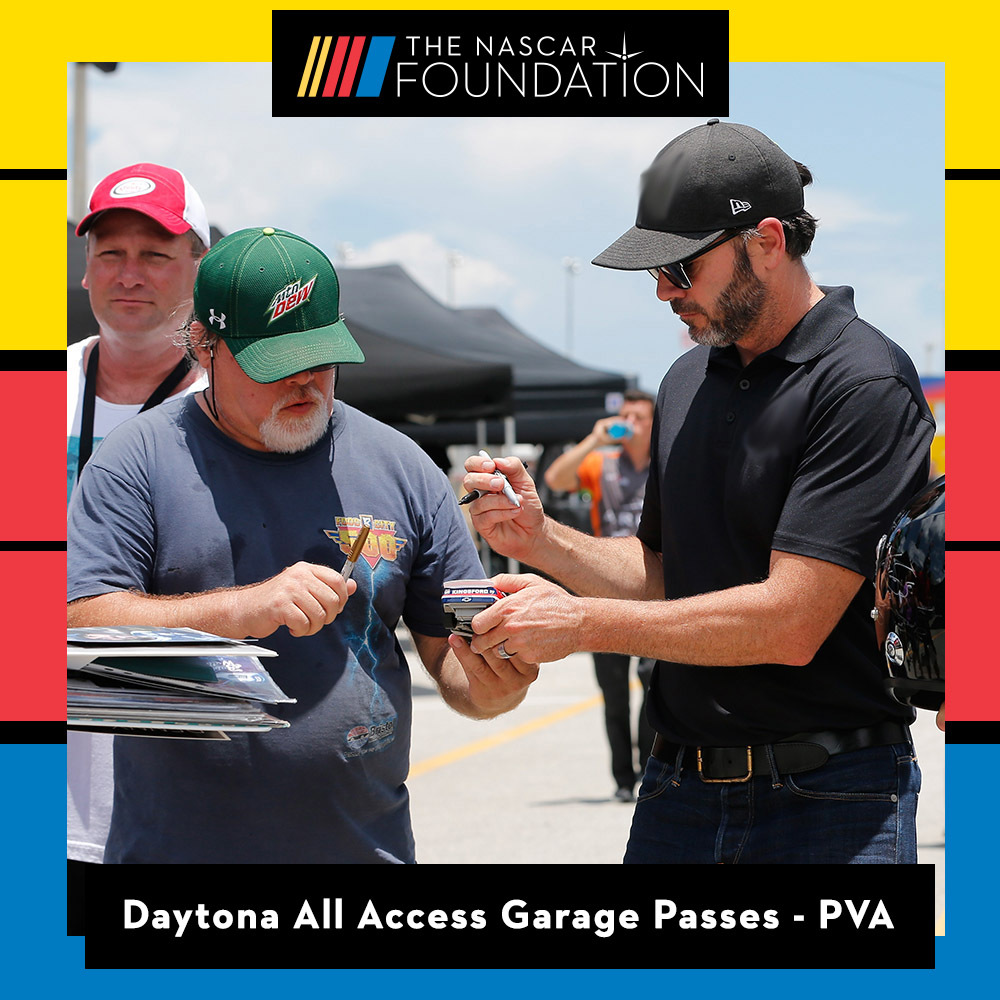 All Access Garage Passes at Daytona benefitting The Paralyzed Veterans of America!