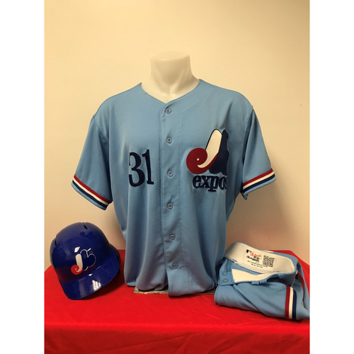 Photo of Max Scherzer Expos Gear: Game-Used Jersey, Game-Used Pants, and Game-Used Batting Helmet