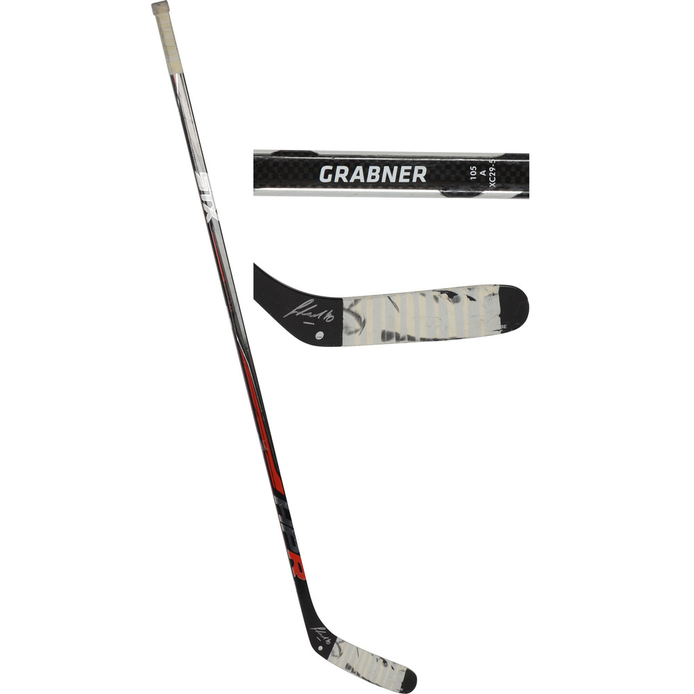 Michael Grabner New York Rangers Autographed Game-Used Black STX Stick from the 2016-17 NHL Season