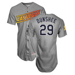 Photo of Parker Dunshee #29 Las Vegas Aviators 2019 Road Jersey
