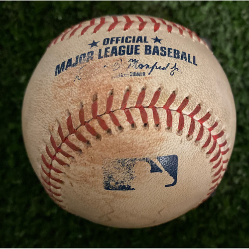 Photo of Ozzie Albies Game Used Hit Double Baseball - July 23, 2019