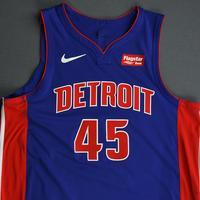 Sekou Doumbouya - Detroit Pistons - Game-Issued Icon Edition Rookie Season Jersey - 2019-20 Season