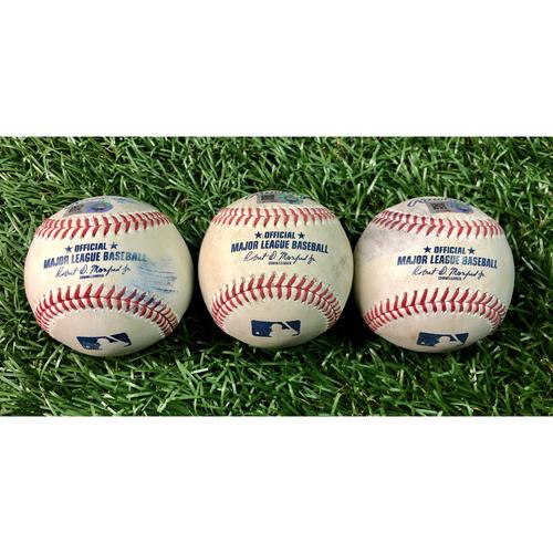 Photo of Game Used Baseball Package (3): Freddie Freeman - July 28, 2020 v ATL