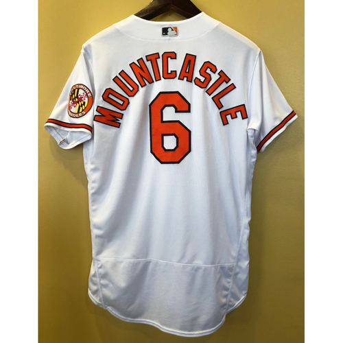 Photo of Ryan Mountcastle - White Home Jersey (2-3 w/ 2 Doubles): Game-Used