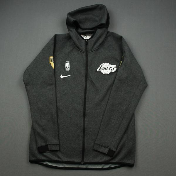Image of Alex Caruso - Los Angeles Lakers - 2020 NBA Finals - Game-Issued Hooded Warmup Jacket
