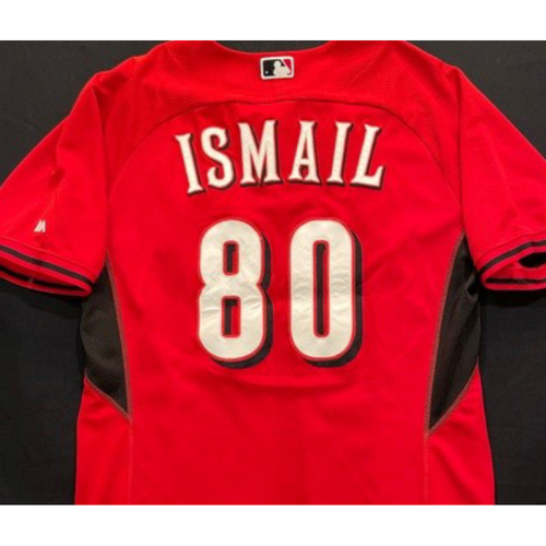 ISMAIL -- Authentic Reds Jersey -- $1 Jersey Auction -- $5 Shipping -- Size 44 (Not MLB Authenticated)