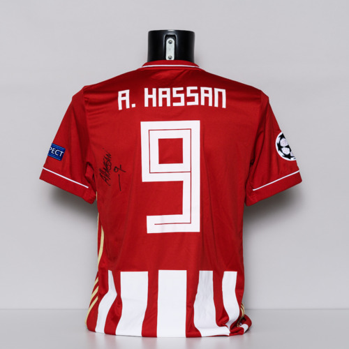 Photo of 20/21 Olympiacos FC Jersey - signed by Ahmed Hassan