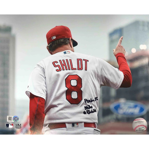 Photo of Cardinals Authentics: Mike Shildt Autographed Photo