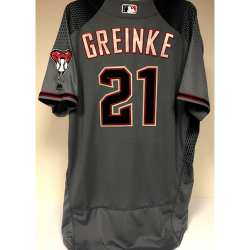 Photo of Zack Greinke - 2019 Team Issued Jersey - Road Gray