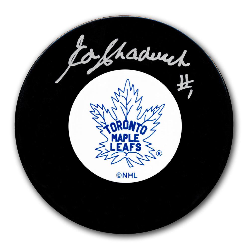 Ed Chadwick Toronto Maple Leafs Original 6 Autographed Puck