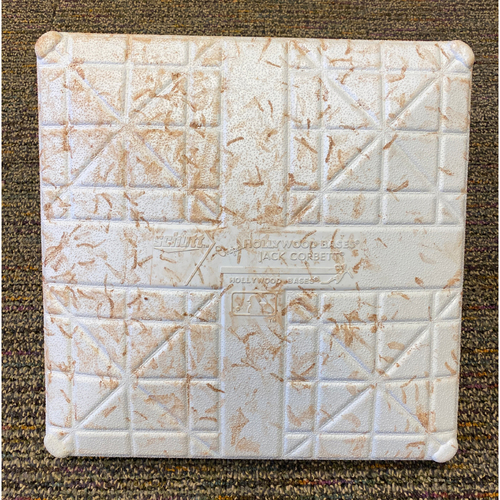Photo of 2021 Game Used Base used on 7/30 - 8/1 vs. Houston Astros - 2nd Base on 8/1 during Innings 1-3 - B-3: Kris Bryant Hits His First Home Run as a Giant