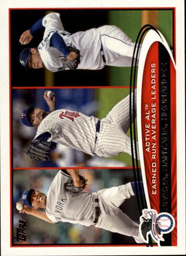 Photo of 2012 Topps #232 Mariano Rivera/Johan Santana/Felix Hernandez LDR