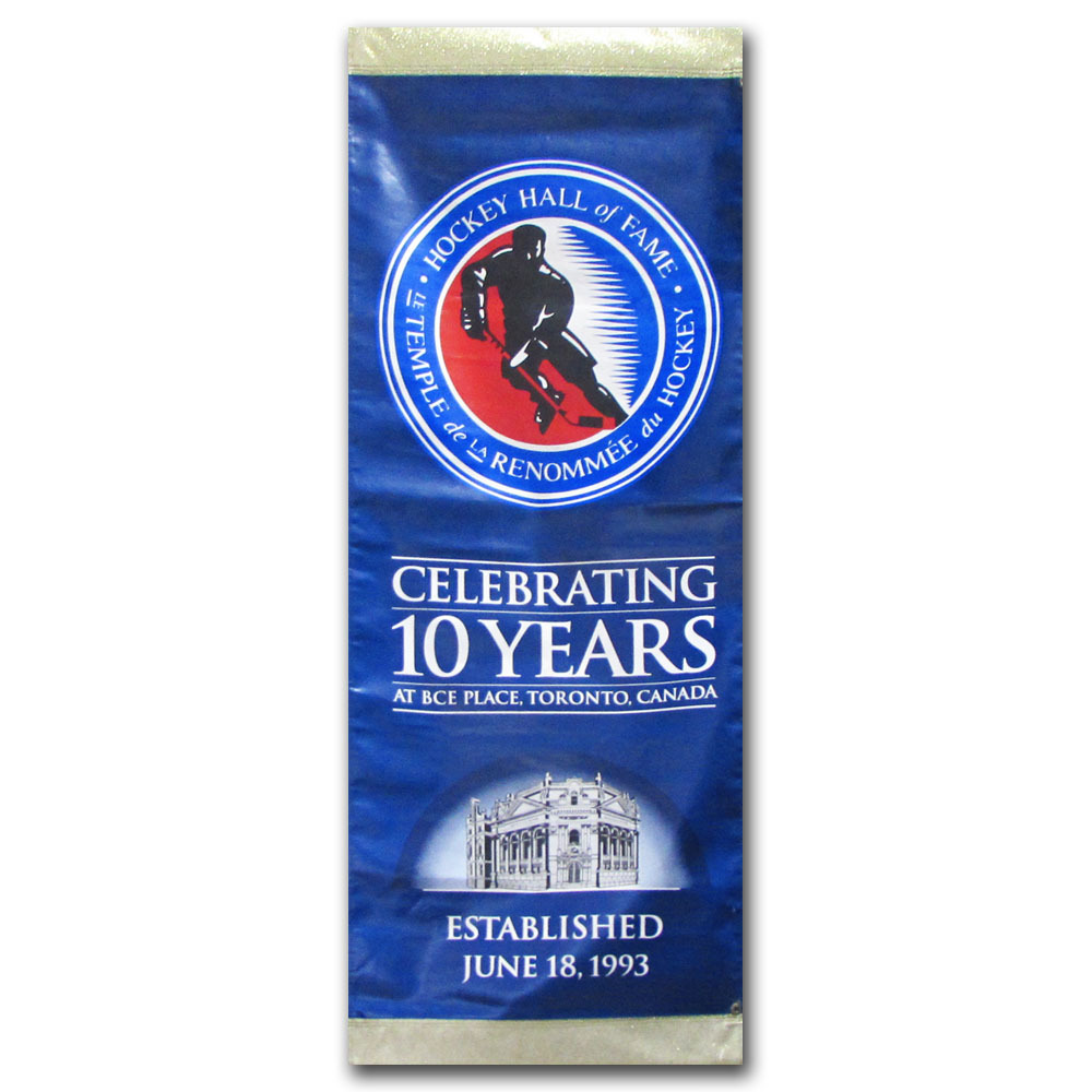 Anniversary Banner Once on Display at the Hockey Hall of Fame