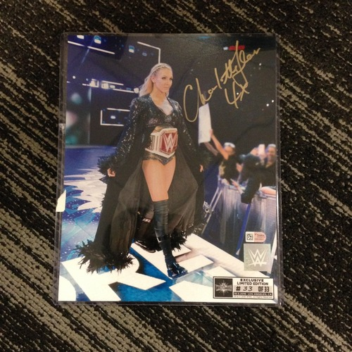 Charlotte Flair SIGNED 8 x 10 Limited Edition WrestleMania 33 Photo (#33 of 33)