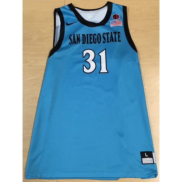 Photo of Game-Worn SDSU Nike N7 Native Night Basketball Jersey: Turquoise #31