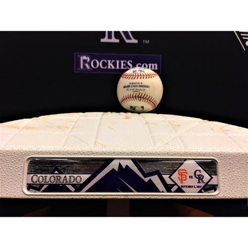 Photo of Giants vs. Rockies Bundle - Posey 2-RBI Double - First Base Innings 1-3 - 9/5/17