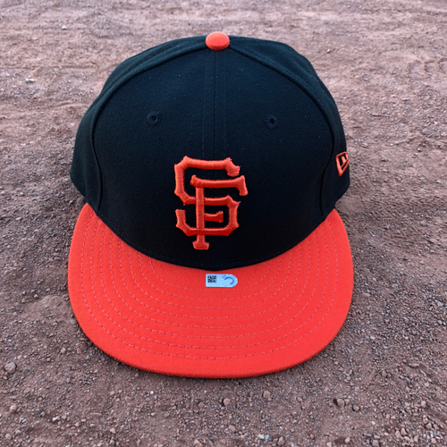 Photo of San Francisco Giants - 2017 Game-Used Alternate Orange Bill Cap Worn on 8/19 by #41 Mark Melancon - Size 7 1/4
