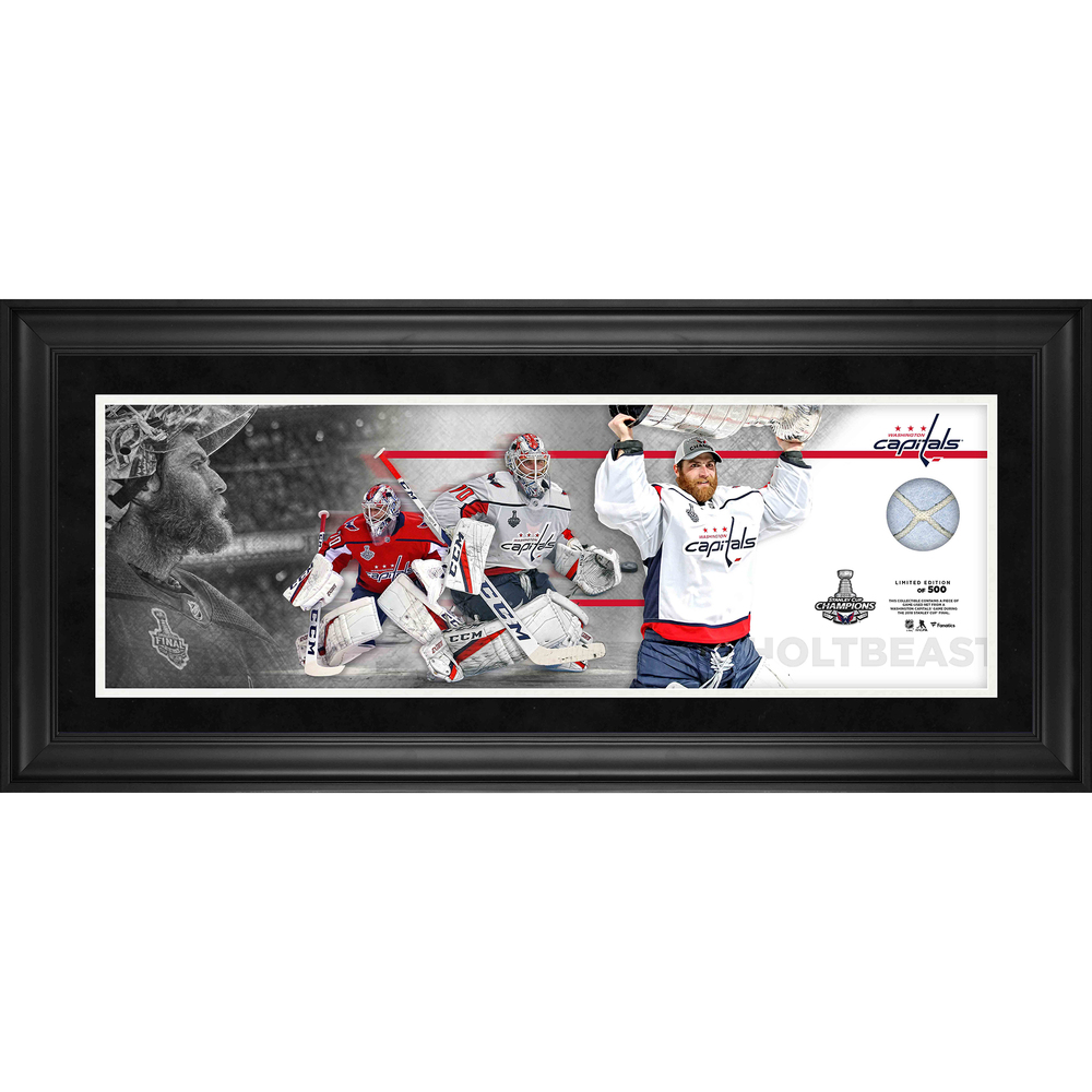 Braden Holtby Washington Capitals 2018 Stanley Cup Champions Framed 10