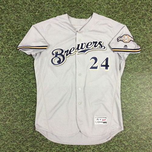 Photo of Jesus Aguilar 2018 Game-Used Opening Day Jersey