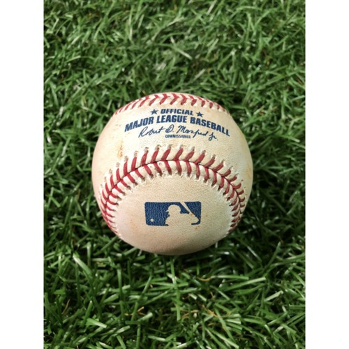 Photo of Game-Used Baseball: Nolan Arenado RBI double off Wilmer Font - April 1, 2019 v COL