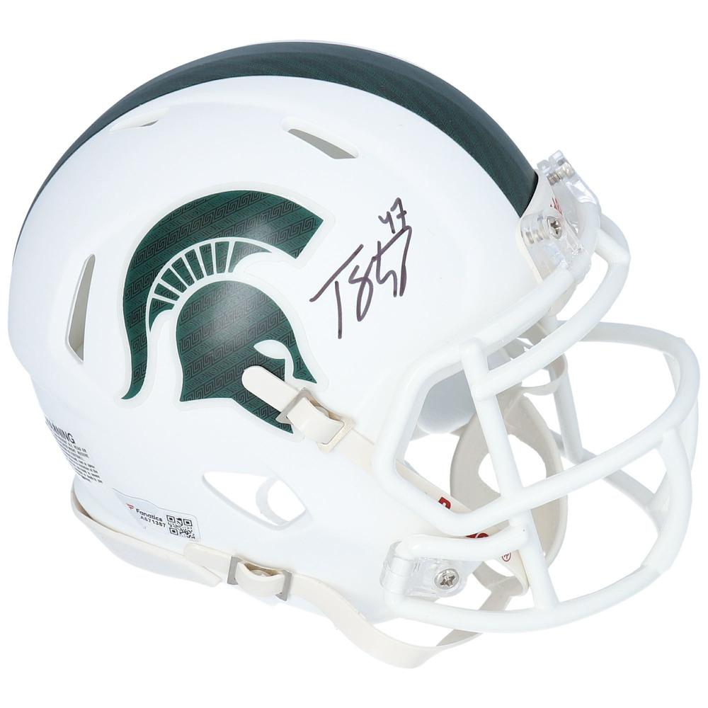 Torey Krug Boston Bruins Autographed Michigan State White Matte Mini Helmet - NHL Auctions Exclusive