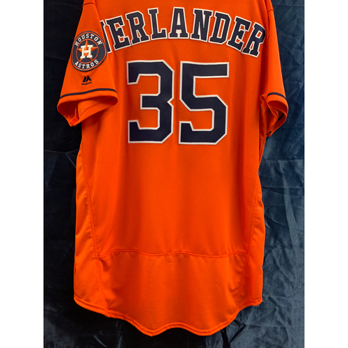 Photo of 2018 Team-Issued Justin Verlander Los Astros Orange Alt Jersey (Size 48)