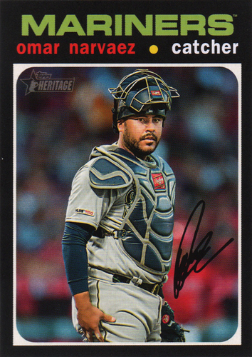 Photo of 2020 Topps Heritage #28 Omar Narvaez