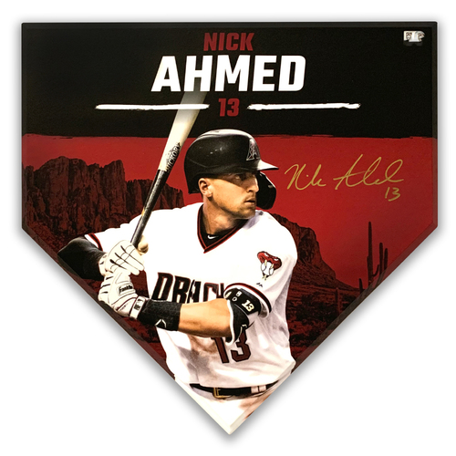 Photo of Nick Ahmed Autographed Homeplate