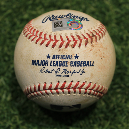Photo of Game-Used Baseball: AL Cy Young Award Finalist Shane Bieber 453rd Career Strikeout (CLE @ KC 8/31/20)