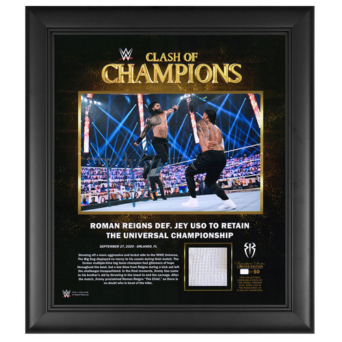 Roman Reigns SIGNED Clash of Champions Signature Series Limited Edition Frame (Random Number)