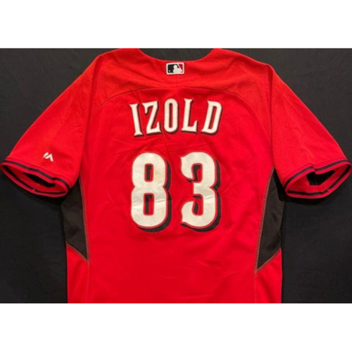 IZOLD -- Authentic Reds Jersey -- $1 Jersey Auction -- $5 Shipping -- Size 46 (Not MLB Authenticated)