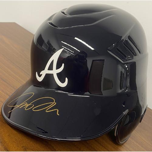 Photo of Josh Donaldson Autographed Navy Bill helmet