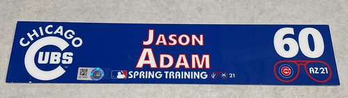 Photo of Jason Adam 2021 Spring Training Locker Nameplate