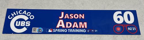 Photo of Jason Adam 2021 Spring Training Locker Nameplate