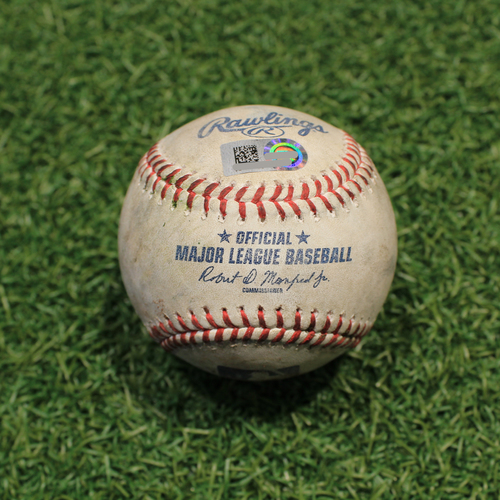 Photo of Game-Used Baseball: Myles Straw 36th Career Double (CLE@KC 9/28/21)